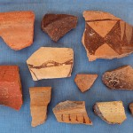 The majority of artifacts that we find are fragments of pottery, like these Phrygian samples.