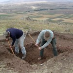 For a week they worked to break up the soil, which was evidently almost as hard as cement.
