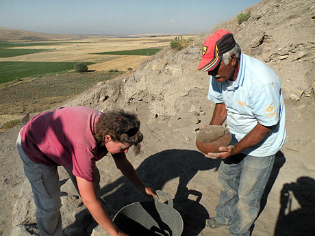 We set the pot aside to take to the depot, where we excavated the dirt that filled it. Nothing was found preserved inside.