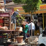 Thursday is market day. Villagers come from all over to stock up for the coming week.