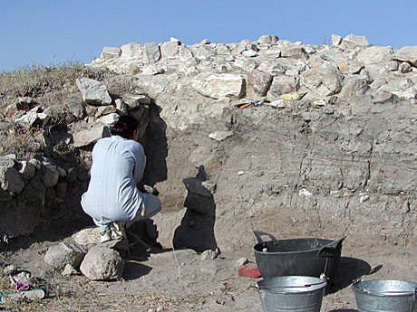 Meanwhile, Gabi examined the transition from Iron Age to Byzantine period near the mound's summit.