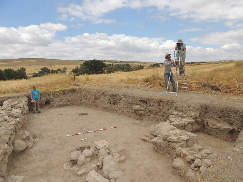 Work continued on the Terrace to remove later Byzantine occupations and uncover the earlier settlement.